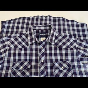 Wrangler Pearl Snap Shirt Sz XL Rodeo Western